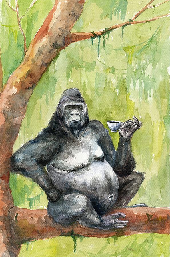Kaffeabe gorilla